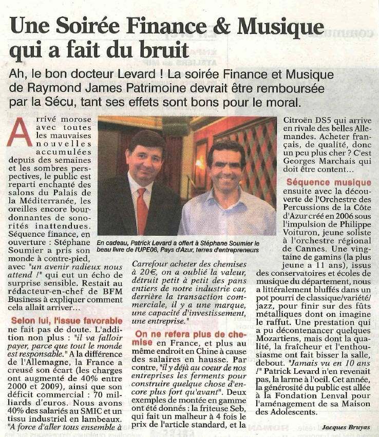 article la tribune gala raymond james
